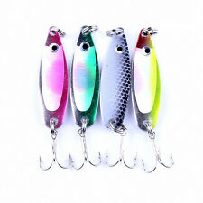 4pcs /Lot Colorful Trout Spoon Metal Fishing Lures Spinner Baits Bass Tackle New
