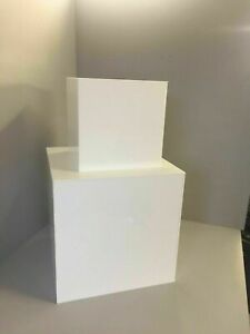 Acrylic Display Cubes 5 Sided Open 1 End Black or White 6 Sizes