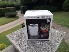 VINTAGE RETRO ICE BUCKET WITH TONGS CLEAR ACRYLIC IN ORIGINAL BOX