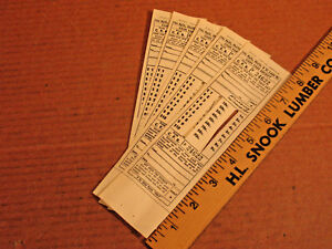 HTF Nashville Chattanooga St. Louis Railway 5 Tickets  unused
