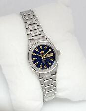 ORIENT 3 Star Automatic Watch LADIES Silver Tone DARK BLUE dial FNQ1X003J9 NEW