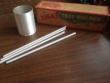 Vintage Aluminum Metal Tinsel Christmas Tree Stand 1940-50 Era Decoration