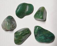 5x Buddstone jade tumblestones 22mm - 49mm -- Lot pierres roulées jade