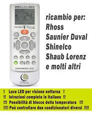 Telecomando condizionatore climatizzatore Rhoss - Saunier Duval inverter