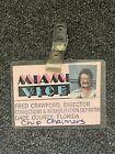 original 1980s MIAMI VICE id badge fred crawford director vintage real Rare