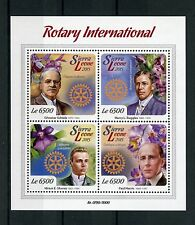 Sierra Leone 2015 MNH Rotary International & Orchids 4v M/S Paul Harris Flowers