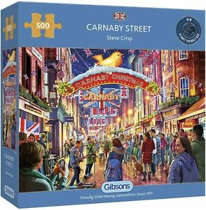 Carnaby Street by Steve Crisp Sealed 500 Piece Gibsons Jigsaw Puzzles
