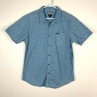 RVCA Slim Fit Short Sleeve Shirt Size Men's XL