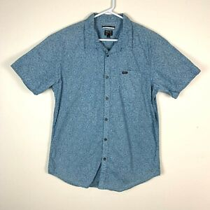 RVCA Slim Fit Short Sleeve Shirt Size Men's XL