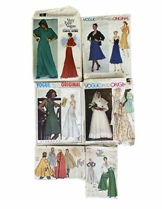 Lot of 6 Vintage Sewing Patterns Very Easy Vogue Paris Original Givenchy Cape