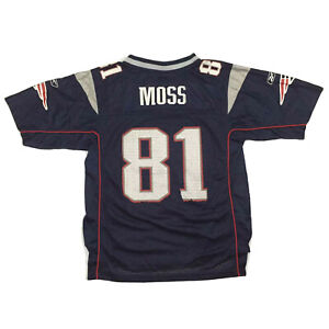 New England Patriots Youth Jersey Randy Moss Reebok On Field NFL Football Kids L