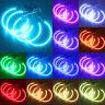 4x 131mm RGB LED Light Angel Eyes Halo Ring for BMW E38 E39 E46 + Remote Control