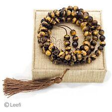 Mala Bracelets Beads,108 Tiger Eye Gemstone Stone Wrist Necklace Tibetan Prayer