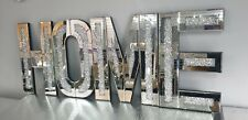 Mirrored HOME Letters Crushed Crystal Diamond Wall Art Decor