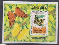 Grenada-Grenadines 1975 Butterfly Sc 82 MS  fine used