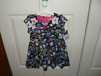 Genuine Kids Oshkosh Toddler Girls Tea Party A-Line Floral Dress NWT