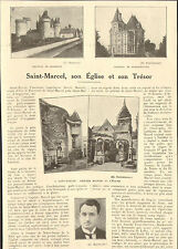 36 SAINT-MARCEL EGLISE & TRESOR ARTICLE DE PRESSE PAR MARCEL FRUCHON MAIRE 1926