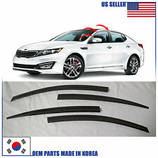 SMOKED DOOR WINDOW VENT VISOR DEFLECTOR (A121) KIA OPTIMA 2011-2015