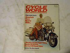 SEPTEMBER 1973 CYCLE WORLD MAGAZINE,HARLEY ELECTRIA GLIDE COVER,YAMAHA TX500,AMA