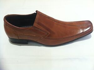 Mens Light Brown Formal Casual  Slip on Leather Shoes