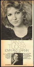 """Tanya Tucker 1976 magazine photo/Record promo """"Lovin and Learnin"""" (031113)"""