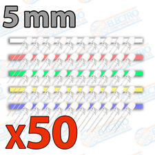 50x LED 5mm VARIOS COLORES Alto Ultra Brillo rojo blanco amarillo verde azul kit