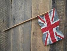 Antique Vintage Union Jack Flag Wooden Stick Village Fete Party British Made E