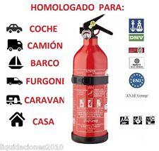EXTINTOR PARA COCHE, BARCO, CASA CON MANOMETRO, HOMOLOGADO, 1KG POLVO OFERTA