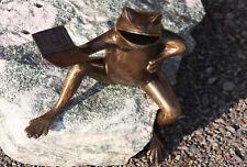 FROG BRONZE FIGURE MUSIC NEW Animal Figure Bronze Frogs Frog Toad bo-0012