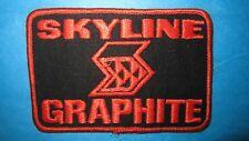 Vintage Skyline Graphite Patch, Fishing Pole Advertising Neon Orange / Jet Black
