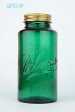 Beautiful antique PALMER Sachet Powder rare WIDE MOUTH JAR deep BLUE GREEN