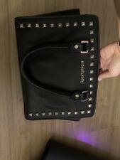 Michael Kors Medium  studs Carryall Leather purse- Black