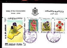 FLORA FLOWERS SET & S/S 1998 JORDAN FDC