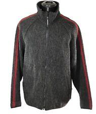 WOOLRICH TechnoWool Full Zip Sweater Jacket sz L Fleece-Lined Collar Wool Blend