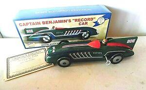 TIN WIND UP CAPTAIN BENJAMINS RECORD CAR MIB SCHYLLING
