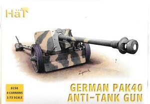 HAT German PAK 40 Anti-Tank Gun w/Crew (4) in 1/72 HTI 8150 ST