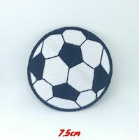 Football Soccer Logo Black and white Iron on Sew on Embroidered Patch #218