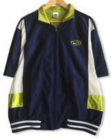 Vintage Nike White Tag Men's Size Medium Blue/Green Full Zip Warm Up Jacket euc