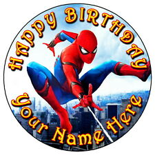 "SPIDERMAN Homecoming Party - 7.5"" Personnalisé Rond comestible glaçage cake topper 1"
