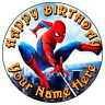 """SPIDERMAN HOMECOMING PARTY - 7.5"""" PERSONALISED ROUND EDIBLE ICING CAKE TOPPER 1"""