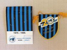 GAGLIARDETTO CALCIO UFFICIALE INTER CLUB NAPOLI ULTRAS ULTRA' 1975-1995 20 ANNI