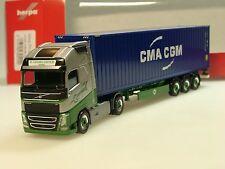 Herpa Volvo FH Gl XL EKB Container Logistik / CMA / CGM - 305440 - 1/87