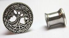 Tunnel Earplug Flared Stretcher Wicca Celtic Tree Of Life Steel Earring Gauge