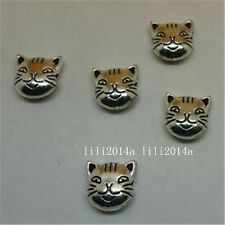 10pc Tibetan Silver Charm CAT animals Spacer Beads Jewellery Making  PL830