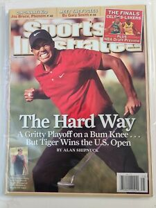 Tiger Woods Sports Illustrated No Label 2008 U.S.Open The Hard Way