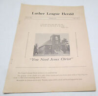Vintage Luther League Herald Chetek Wisconsin Feb. 1947 Vol. 2 No. 2 Booklet