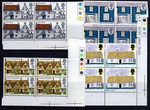 GB QE11 4 BLOCKS OF 4 full set 1970 MNH  [GB2006]