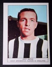 West Bromwich Albion  Legend  JEFF ASTLE    Vintage 1970 Colour Photo Card