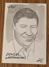 Denzel Washington 2012 Leaf National Exclusive Sketch Card #1/1