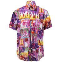 Mens Loud Shirt Retro Psychedelic Funky Party REGULAR Short Sleeve Dancing